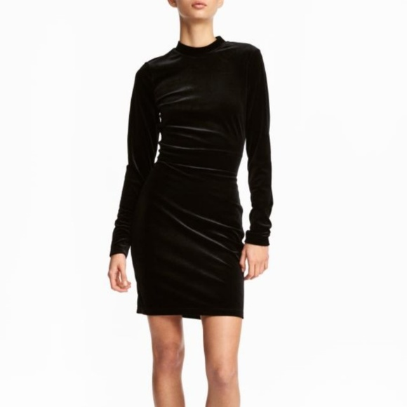 H&M Dresses & Skirts - NWOT. 2019 H&M Holiday black stretch velvet dress